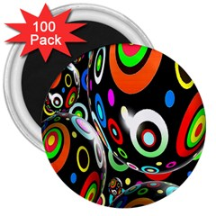 Background Balls Circles 3  Magnets (100 Pack)
