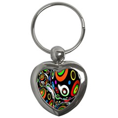 Background Balls Circles Key Chains (heart)