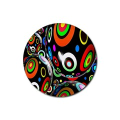 Background Balls Circles Rubber Round Coaster (4 pack)