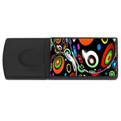 Background Balls Circles Usb Flash Drive Rectangular (4 Gb)