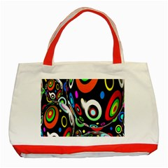 Background Balls Circles Classic Tote Bag (red)
