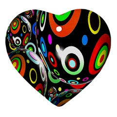 Background Balls Circles Heart Ornament (Two Sides)