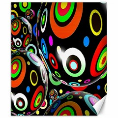 Background Balls Circles Canvas 8  X 10
