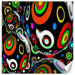 Background Balls Circles Canvas 16  x 16
