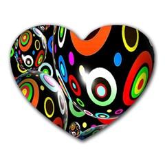 Background Balls Circles Heart Mousepads