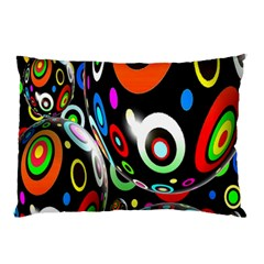 Background Balls Circles Pillow Case