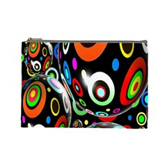 Background Balls Circles Cosmetic Bag (large)