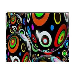 Background Balls Circles Cosmetic Bag (XL)