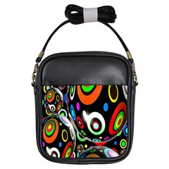 Background Balls Circles Girls Sling Bags