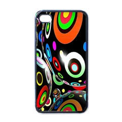 Background Balls Circles Apple iPhone 4 Case (Black)