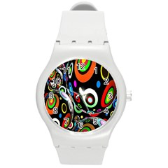 Background Balls Circles Round Plastic Sport Watch (m)