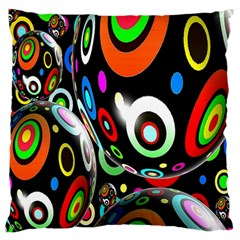 Background Balls Circles Large Cushion Case (One Side)