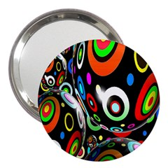 Background Balls Circles 3  Handbag Mirrors