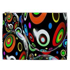 Background Balls Circles Cosmetic Bag (xxl)