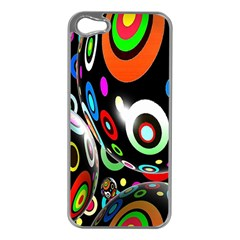 Background Balls Circles Apple Iphone 5 Case (silver)