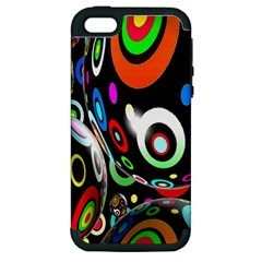 Background Balls Circles Apple Iphone 5 Hardshell Case (pc+silicone)