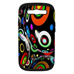 Background Balls Circles Samsung Galaxy S Iii Hardshell Case (pc+silicone)
