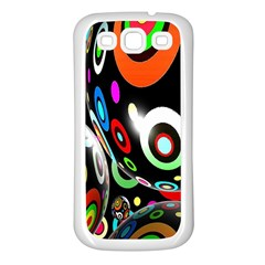 Background Balls Circles Samsung Galaxy S3 Back Case (white)