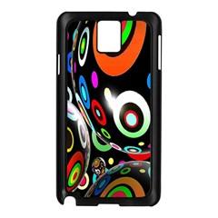 Background Balls Circles Samsung Galaxy Note 3 N9005 Case (black)