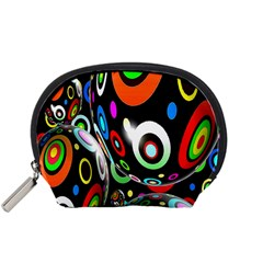 Background Balls Circles Accessory Pouches (Small)