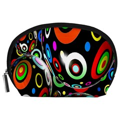 Background Balls Circles Accessory Pouches (large)