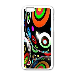 Background Balls Circles Apple Iphone 6/6s White Enamel Case