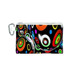 Background Balls Circles Canvas Cosmetic Bag (s)