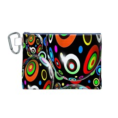 Background Balls Circles Canvas Cosmetic Bag (M)