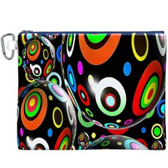 Background Balls Circles Canvas Cosmetic Bag (xxxl)