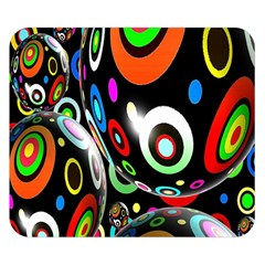 Background Balls Circles Double Sided Flano Blanket (small)