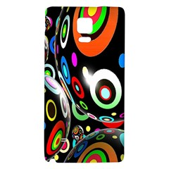 Background Balls Circles Galaxy Note 4 Back Case