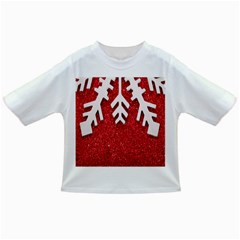 Macro Photo Of Snowflake On Red Glittery Paper Infant/toddler T Shirts