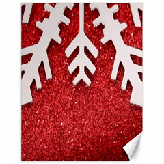 Macro Photo Of Snowflake On Red Glittery Paper Canvas 18  x 24