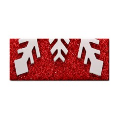 Macro Photo Of Snowflake On Red Glittery Paper Cosmetic Storage Cases