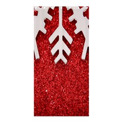 Macro Photo Of Snowflake On Red Glittery Paper Shower Curtain 36  x 72  (Stall)