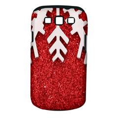 Macro Photo Of Snowflake On Red Glittery Paper Samsung Galaxy S Iii Classic Hardshell Case (pc+silicone)