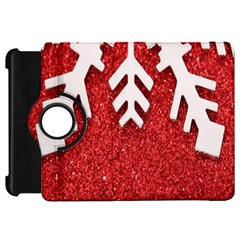 Macro Photo Of Snowflake On Red Glittery Paper Kindle Fire HD 7