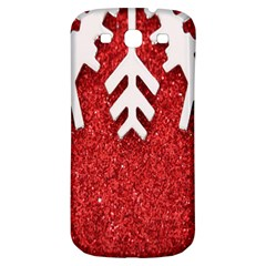 Macro Photo Of Snowflake On Red Glittery Paper Samsung Galaxy S3 S III Classic Hardshell Back Case