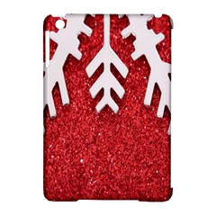 Macro Photo Of Snowflake On Red Glittery Paper Apple iPad Mini Hardshell Case (Compatible with Smart Cover)