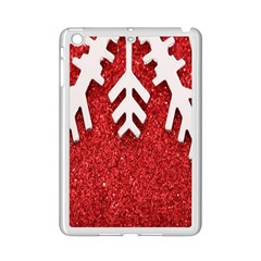 Macro Photo Of Snowflake On Red Glittery Paper iPad Mini 2 Enamel Coated Cases