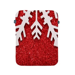 Macro Photo Of Snowflake On Red Glittery Paper Apple iPad 2/3/4 Protective Soft Cases