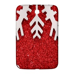 Macro Photo Of Snowflake On Red Glittery Paper Samsung Galaxy Note 8 0 N5100 Hardshell Case