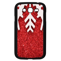 Macro Photo Of Snowflake On Red Glittery Paper Samsung Galaxy Grand DUOS I9082 Case (Black)