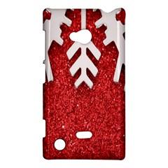 Macro Photo Of Snowflake On Red Glittery Paper Nokia Lumia 720