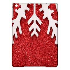 Macro Photo Of Snowflake On Red Glittery Paper iPad Air Hardshell Cases