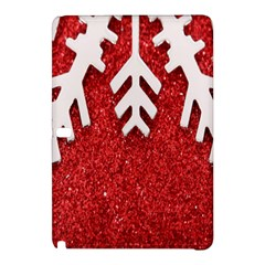 Macro Photo Of Snowflake On Red Glittery Paper Samsung Galaxy Tab Pro 12.2 Hardshell Case