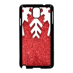 Macro Photo Of Snowflake On Red Glittery Paper Samsung Galaxy Note 3 Neo Hardshell Case (black)