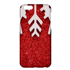 Macro Photo Of Snowflake On Red Glittery Paper Apple iPhone 6 Plus/6S Plus Hardshell Case