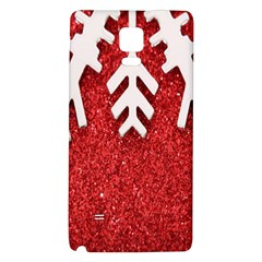 Macro Photo Of Snowflake On Red Glittery Paper Galaxy Note 4 Back Case