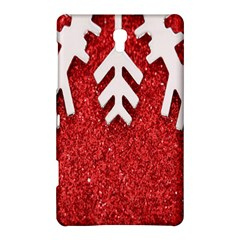 Macro Photo Of Snowflake On Red Glittery Paper Samsung Galaxy Tab S (8.4 ) Hardshell Case